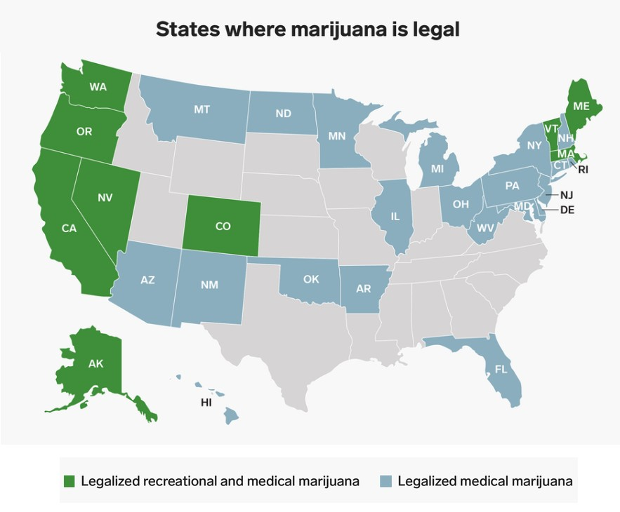 States Where Weed Is Legal In The USA